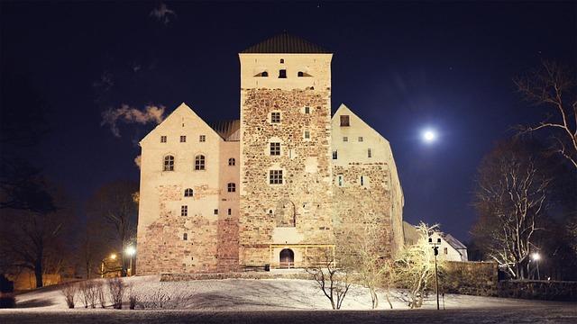 Замок в городе Турку, Финляндия