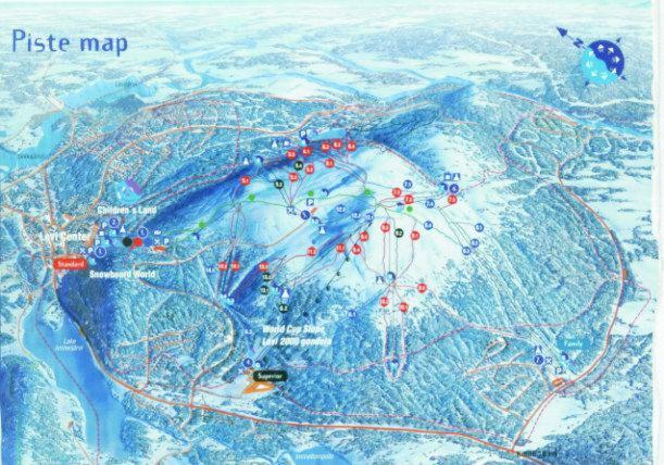 Карта склонов Леви